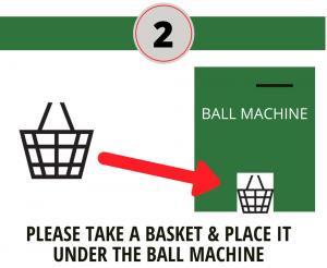 Basket Under Ball Machine